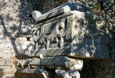 Monumental Tomb. Ruins of ancient city Olympos in Lycia. Turkey Royalty Free Stock Images
