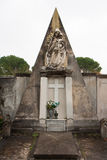 Monumental tomb with statue of madonna Royalty Free Stock Photo