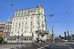 The monumental Victoria hotel in Amsterdam Stock Photos