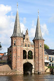 Monumental Water Gate in Sneek, Holland Royalty Free Stock Image
