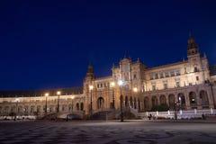 Monumentala Seville, Spanien fyrkant av Hannibal Gonzalez Royaltyfri Foto