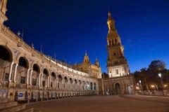 Monumentala Seville, Spanien fyrkant av Hannibal Gonzalez Royaltyfria Foton