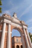 Monumentale Boog gewijd aan Paus Milde XIV Stock Afbeelding