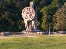 Monumentale dei combattenti caduti fotografie stock libere da diritti