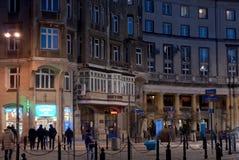 Monumentale Gebäude im sozialistischen Realismus reden Plac Zbawiciela an Lizenzfreie Stockfotografie