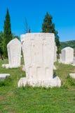 Monumentale mittelalterliche Finanzanzeige in Stolac, Herzegowina Stockfoto