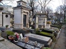 Monumentale Mont Martre-begraafplaats, Parijs Royalty-vrije Stock Fotografie