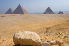 Monumentale reeks van Giza Stock Fotografie