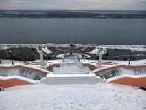 Monumentale trap in Nijni Novgorod het Kremlin royalty-vrije stock foto's