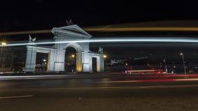 Monumentalna brama przy nocą Obrazy Royalty Free