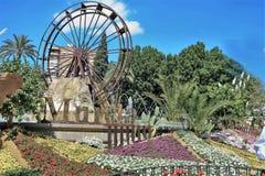 Monumentalna fontanna los angeles Redonda zdjęcie stock