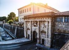 Monumentalna Gruntowa brama, Zadar, Chorwacja Obrazy Stock