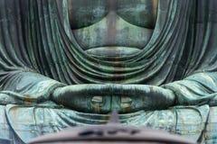 Monumentalna sławna brązowa statua wielki x28 & Buddha; Daibutsu& x29; Zdjęcie Royalty Free