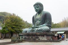 Monumentalna sławna brązowa statua wielki x28 & Buddha; Daibutsu& x29; Fotografia Royalty Free