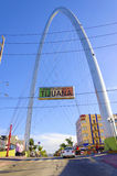Monumentalny łuk, Tijuana, Meksyk zdjęcie stock