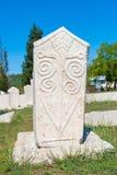 Monumentalny średniowieczny nagrobek w Stolac, Herzegovina obraz royalty free