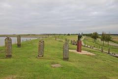Monumentalny cmentarz przegrana wioska Oterdum, Holandia Obrazy Stock