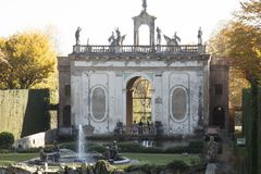 Monumentalt komplex av Valsanzibio av Galzignano Terme Padua arkivbild
