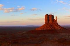 Monumentdal på solnedgången Fotografering för Bildbyråer