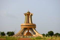 Monumentdes spelar martyr Ouagadougou Burkina Faso Royaltyfri Bild