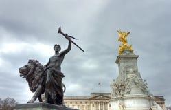 monumentdrottning victoria Arkivbilder