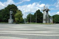 Monumente: Adam Mickiewicz und Juni 1956 Opfer in Posen Stockfotos
