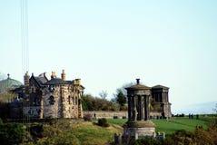 Monumente auf Calton-Hügel in Edinburgh, Schottland stockbild
