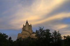 Monumente der Stadt von Segovia, der wirkliche Alcazar, Spanien Stockfotografie