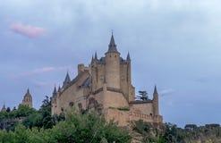 Monumente der Stadt von Segovia, der wirkliche Alcazar, Spanien Stockfotos
