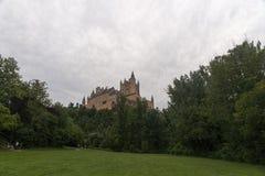 Monumente der Stadt von Segovia, der wirkliche Alcazar, Spanien Lizenzfreie Stockfotografie