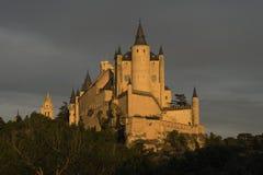 Monumente der Stadt von Segovia, der wirkliche Alcazar, Spanien Lizenzfreie Stockfotos