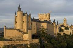 Monumente der Stadt von Segovia, der wirkliche Alcazar, Spanien Lizenzfreies Stockbild