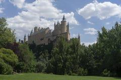 Monumente der Stadt von Segovia, der wirkliche Alcazar, Spanien Lizenzfreies Stockfoto
