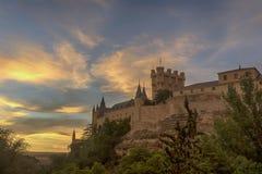 Monumente der Stadt von Segovia, der wirkliche Alcazar, Spanien Stockbild