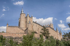 Monumente der Stadt von Segovia, der wirkliche Alcazar, Spanien Stockfoto