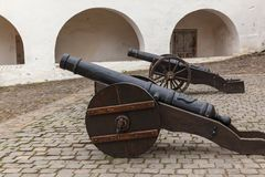 Monumente im Schloss von Palanok lizenzfreie stockbilder