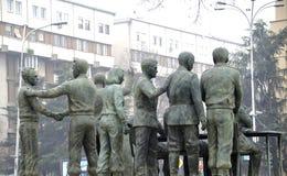 Monumente in Skopje Mazedonien stockbild