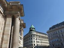 Monumente von Wien, Österreich, ein klarer sonniger Tag stockfoto