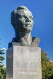 Monumente zu Yuri Gagarin auf der Kosmonaut-Gasse  Stockbilder