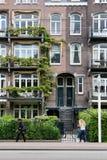Monumente zur linnaeus Straße in Amsterdam lizenzfreie stockfotografie