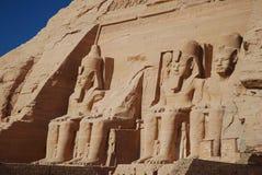 Monumenten in Abu Simbel. Royalty-vrije Stock Fotografie