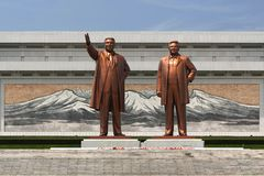 Monumenten en architectuur van Pyongyang Royalty-vrije Stock Foto's