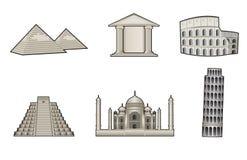 Monumenten en oriëntatiepuntenillustratie Royalty-vrije Stock Foto