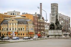 Monumenten gevallen zeelieden in de stad van Kiev Royalty-vrije Stock Afbeelding