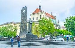 Monumenten i Lvov fotografering för bildbyråer