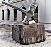 "Monument""en slår Nazism† i Oslo, Noraway vid den Bjorn Melbye Gulliksen mitt i dagen - våren 2017 royaltyfri foto"