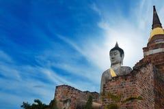Monumenten van buddah THAILAND Royalty-vrije Stock Foto's