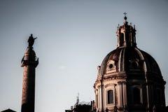 Monumenten van de stad van Rome stock fotografie