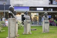 Monumenten van nationale helden in Gevgelija macedonië stock foto