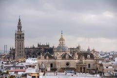 Monumenten van Sevilla, Andalusia Stock Foto's